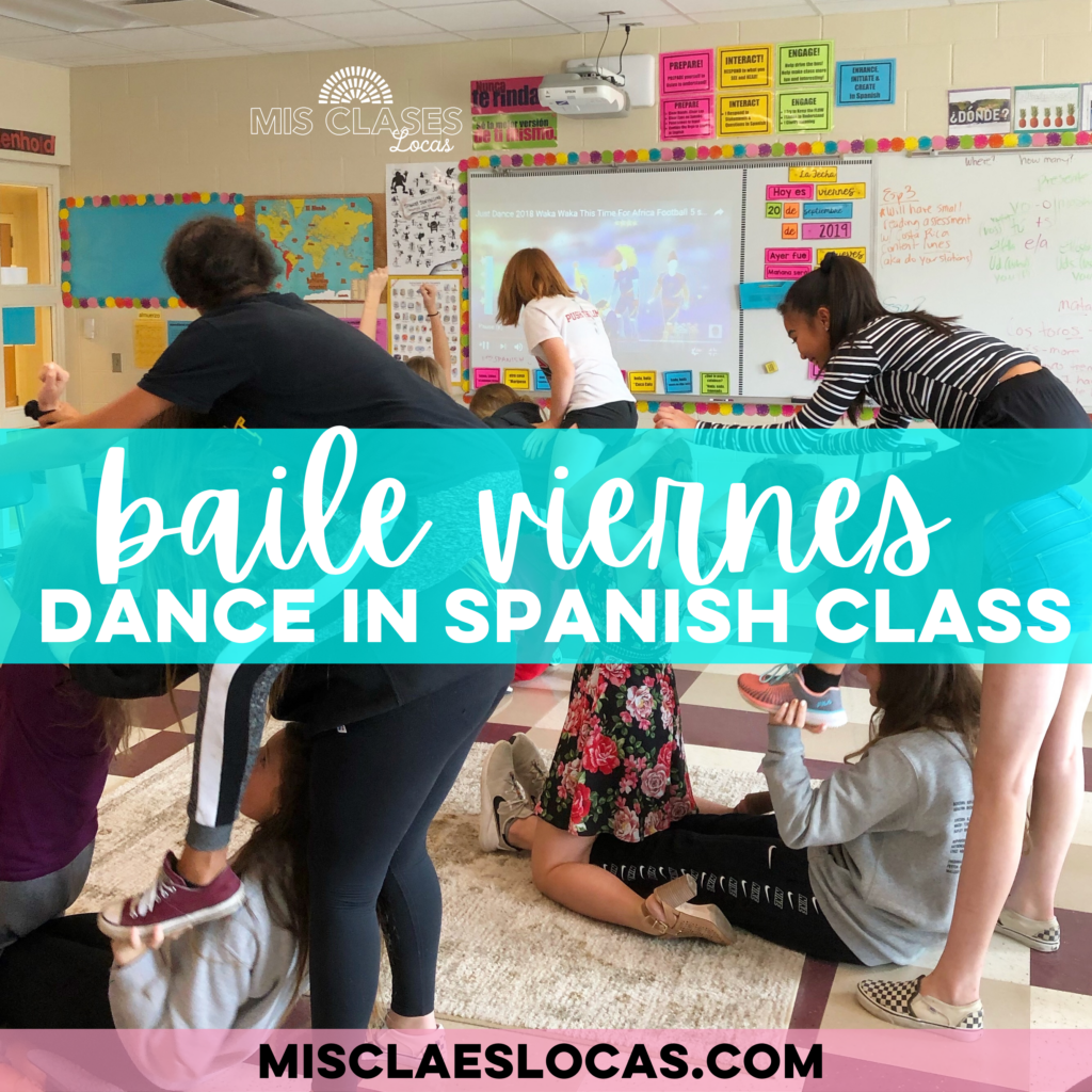 Baile viernes - dance in Spanish class shared by Mis Clases Locas