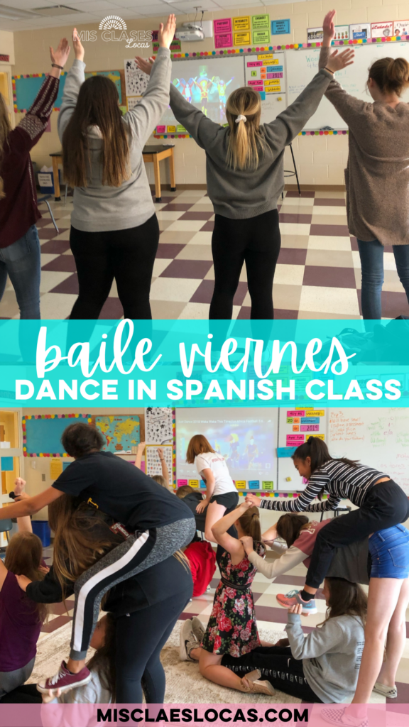 Baile viernes dance in Spanish class shared by Mis Clases Locas