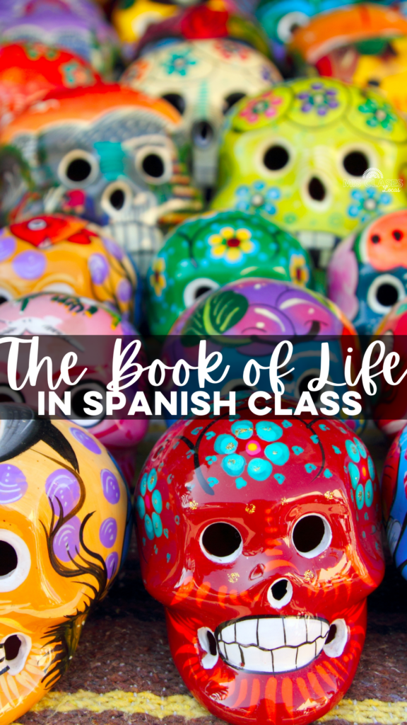 The Book of Life in Spanish class - free novice Spanish movie guide