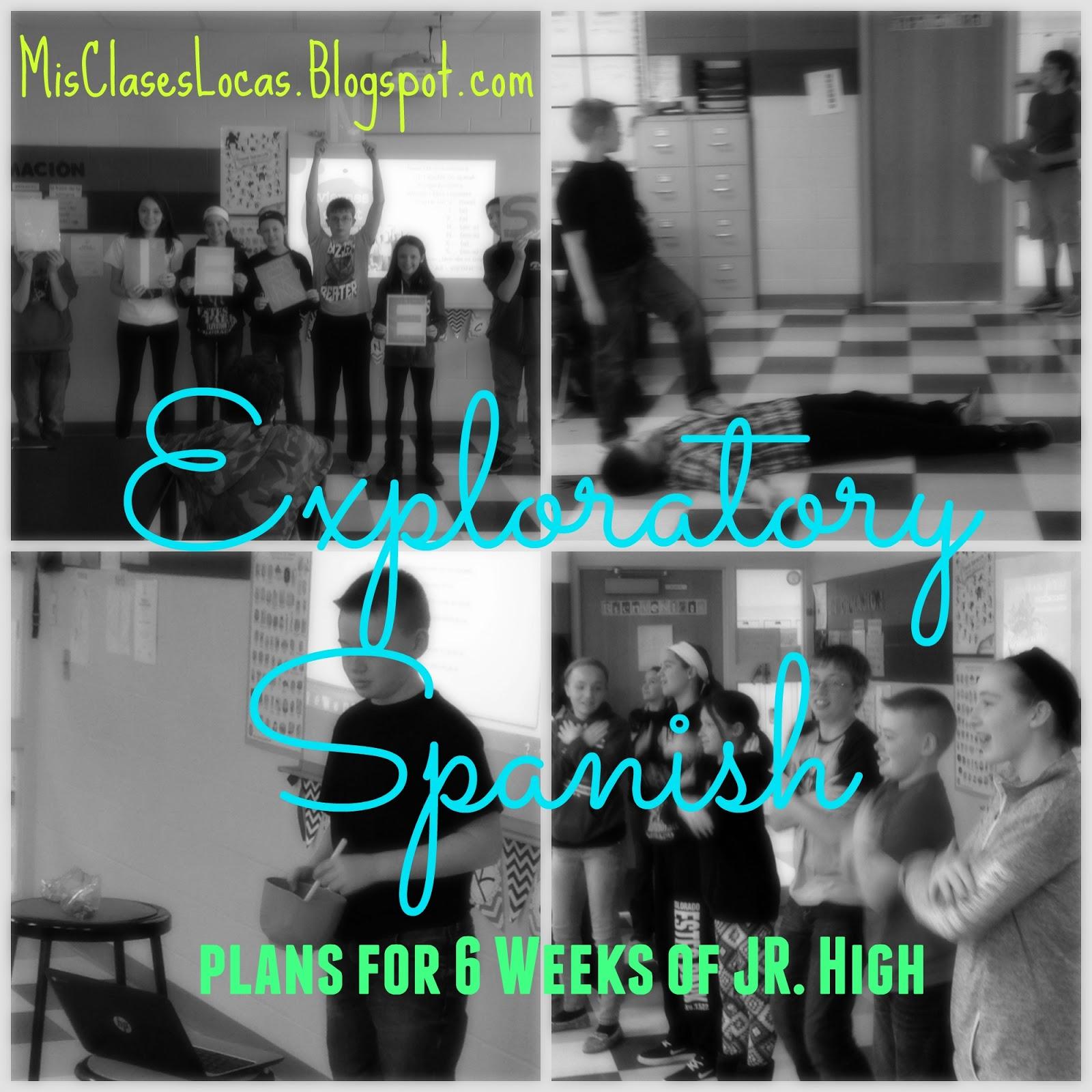 Exploratory Spanish – 6 week plans