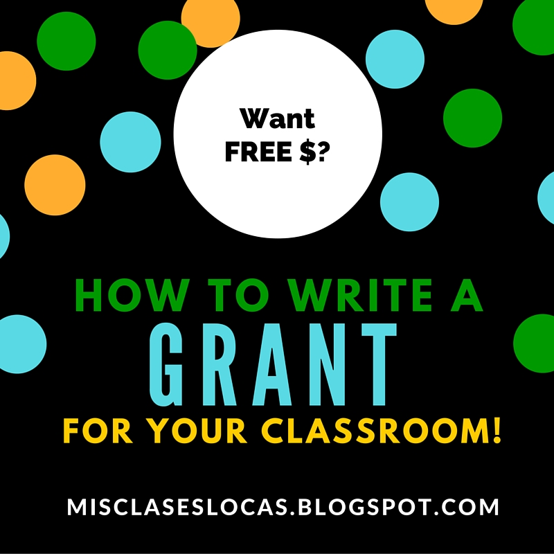 Write a grant for your classroom