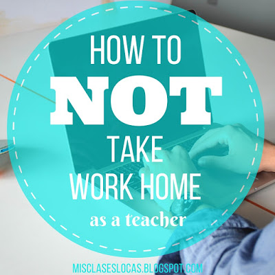 How to not take school work home
