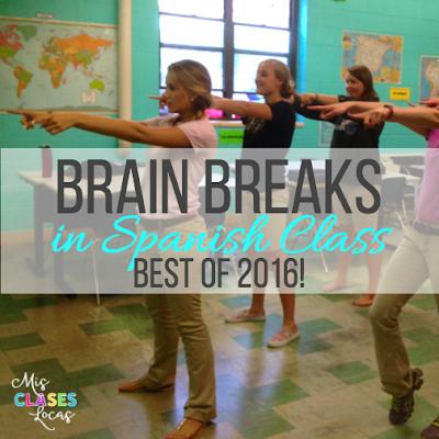 Best of 2016: #5 Brain Breaks in Spanish Class