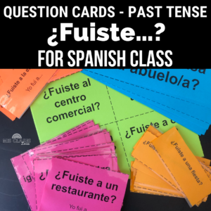 First Day of Spanish 2 Question Cards Mis Clases Locas