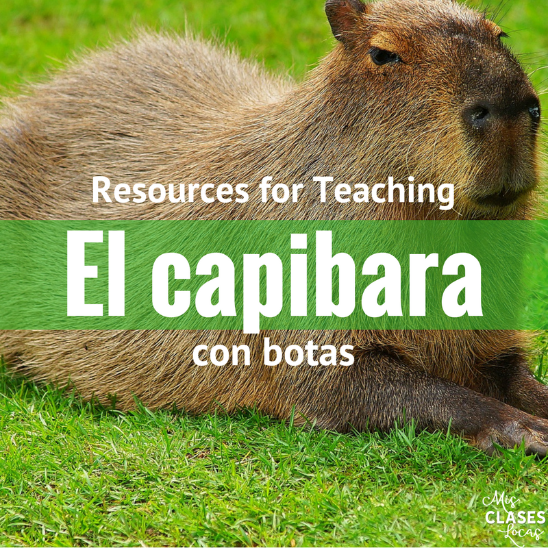 Resources for teaching the novel El capibara con botas by Mira Canion