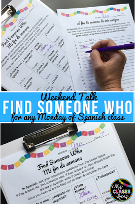 Weekend Talk - a no prep activity for any Monday of Spanish class
