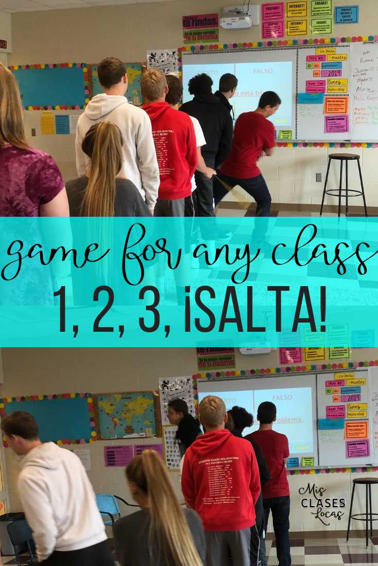 Quick Tip: 1, 2, 3, ¡SALTA! (1,2,3 Jump!) a game to get any class moving  - shared by Mis Clases Locas