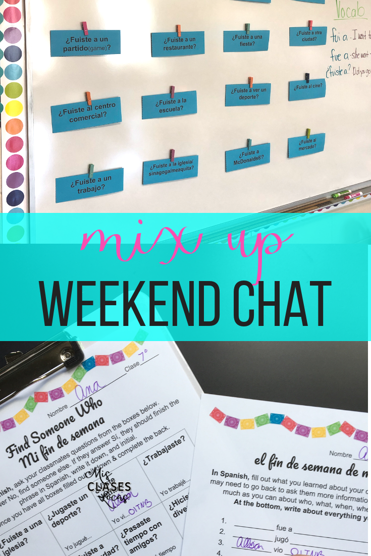 Weekend Talk: 6 Ways to Mix Up Weekend Chat - shared by Mis Clases Locas