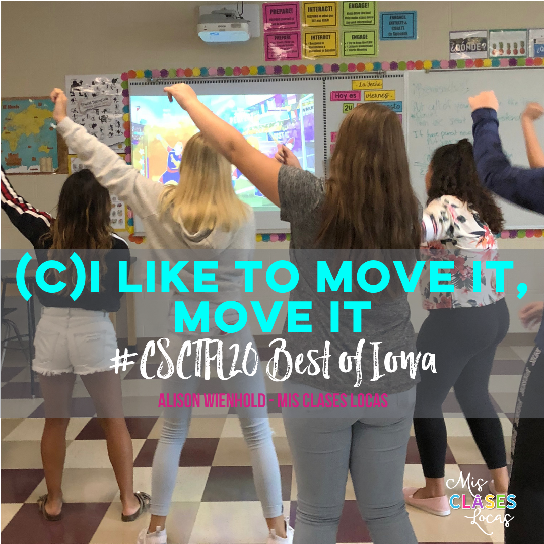 #CSCTFL20 – Best of Iowa (C)I Like to move it move it – activities to get your class moving
