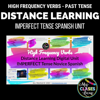 High Frequency Verbs distance learning unit in Imperfect Tense - from Mis Clases Locas