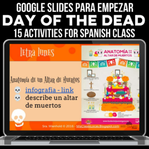 Day of the Dead Editable Google Slides for Spanish class