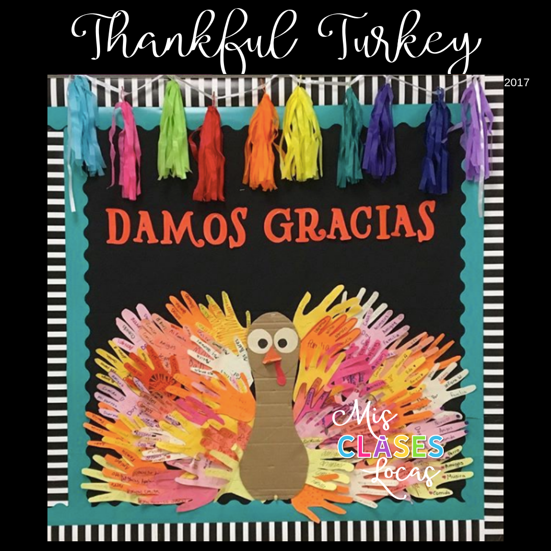 Thanksgiving in Spanish Class – Thankful Turkey