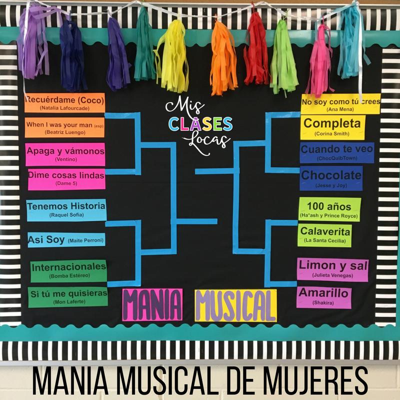 mania musical de marzo – March Music Madness in Spanish class