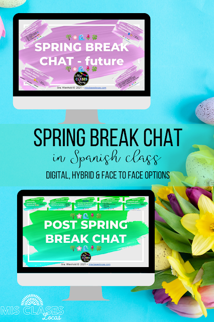 Spring Break Chat in Spanish Class - Pre and Post Spring Break Chat - shared by Mis Clases Locas