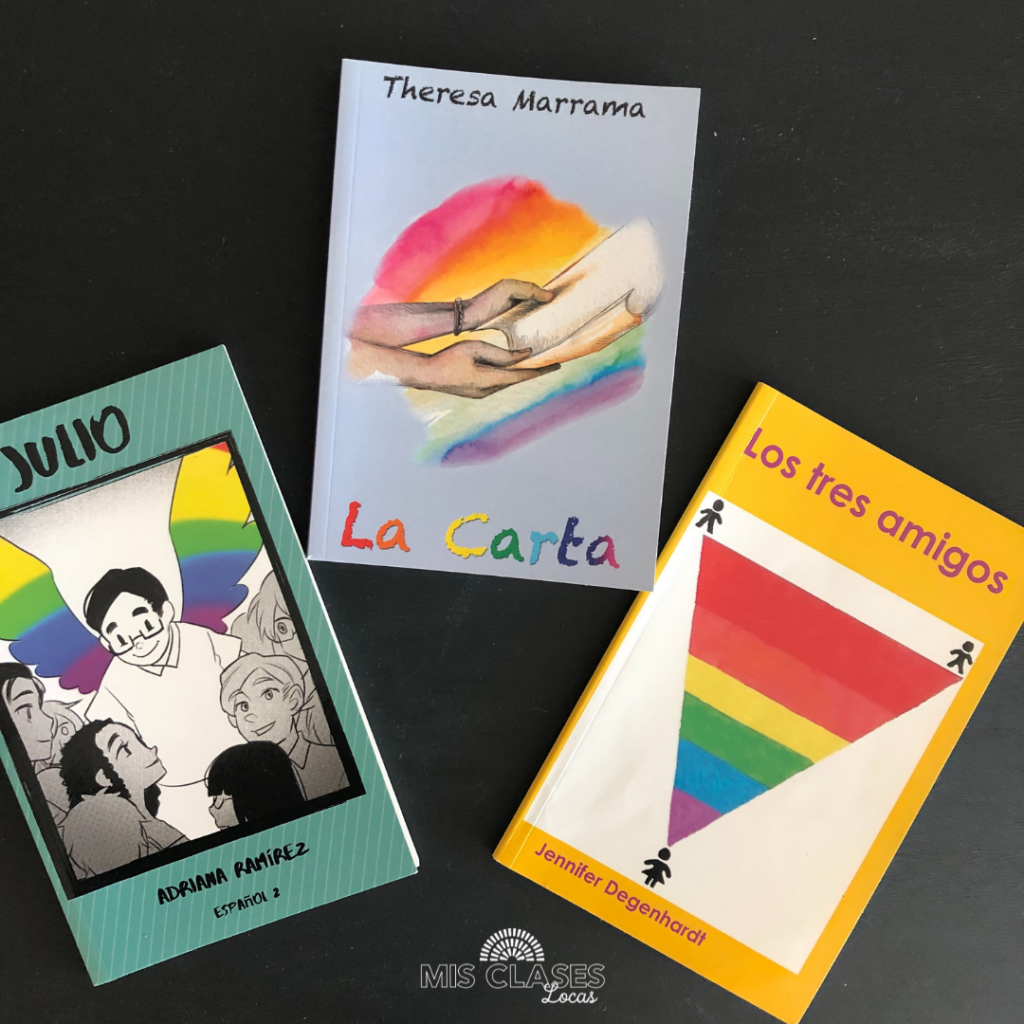 books with pride for Spanish class