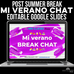 1st Day of Digital Spanish class Google Slides