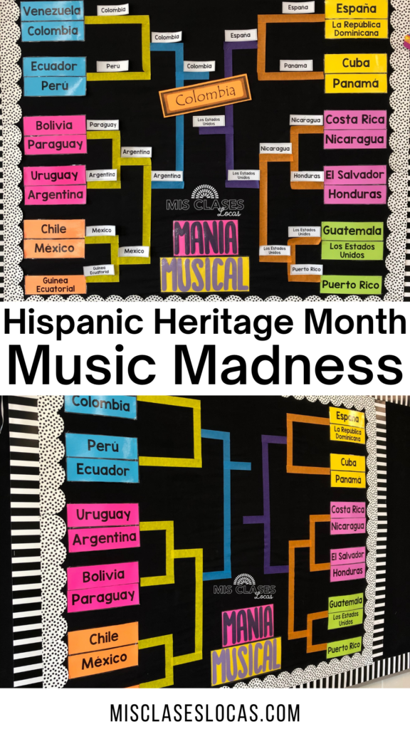 Hispanic Heritage Month Music Madness shared by Mis Clases Locas